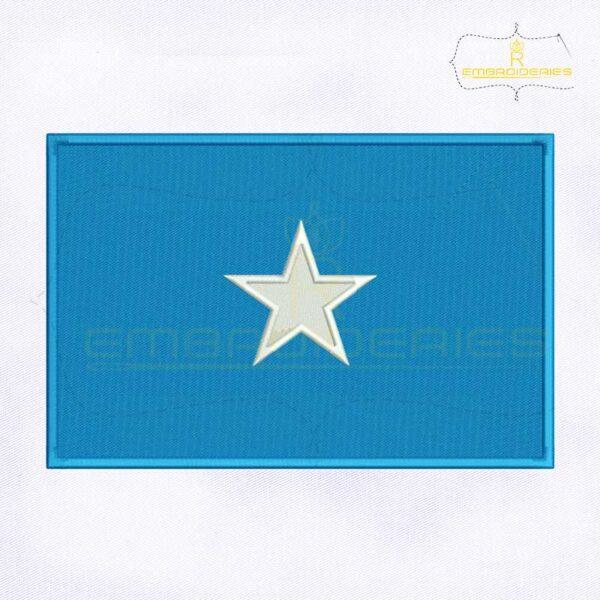 Somalia Flag Machine Embroidery Design