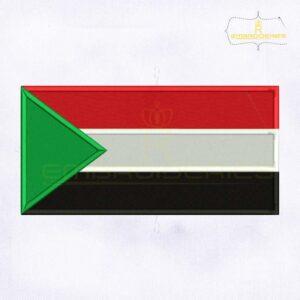 Sudan Flag Machine Embroidery Design
