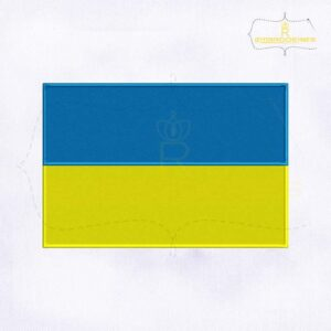 Ukraine Flag Machine Embroidery Design