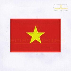 Vietnam Flag Machine Embroidery Design