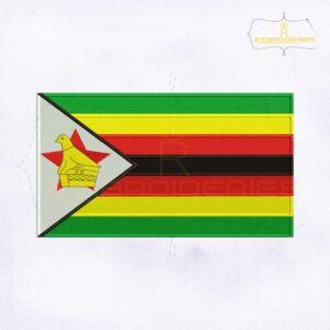 Zimbabwe Flag Machine Embroidery Design