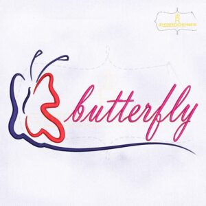 Alluring Butterfly Machine Embroidery Design
