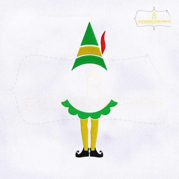 Christmas Elf Legs Monogram Embroidery Design