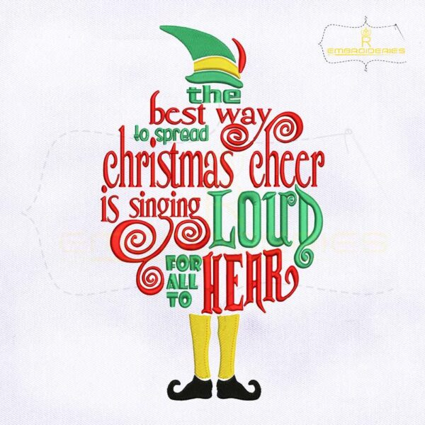The Best Way to Spread Christmas Cheer Embroidery Design
