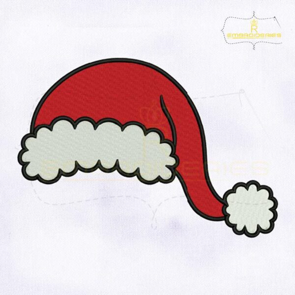 Christmas Santa Hat Monogram Embroidery Design