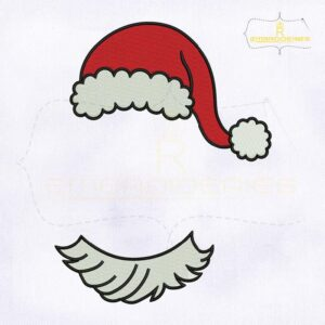 Christmas Monogram Santa Hat Embroidery Design
