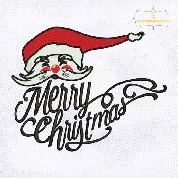 Merry Christmas Santa Claus Embroidery Design