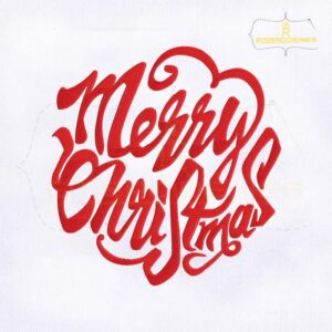 Beautifully Digitized Merry Christmas Embroidery Design