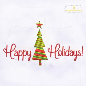 Happy Holidays Machine Embroidery Design