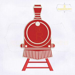 Polar Express Train Monogram Embroidery Design