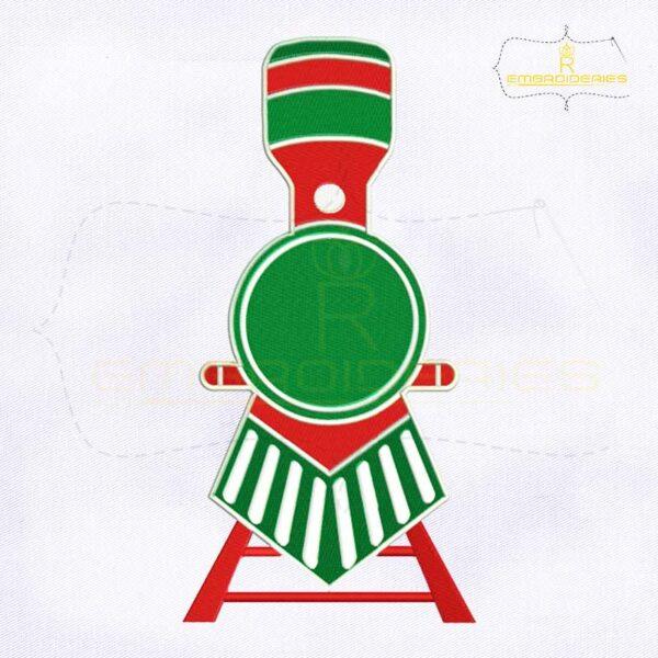 Christmas Polar Express Train Monogram Embroidery Design