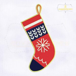 Beautifying Red Christmas Stockings Embroidery Design