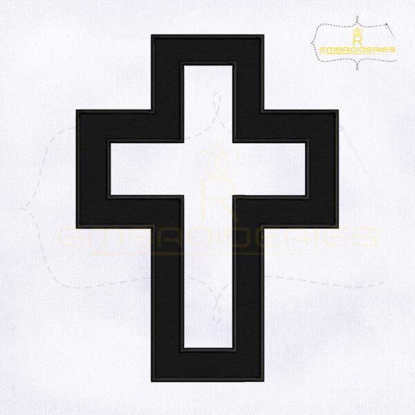 Latin Christian Cross Embroidery Design