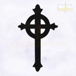 Presbyterian Cross Machine Embroidery Design