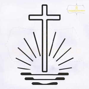 New Apostolic Cross Embroidery Design