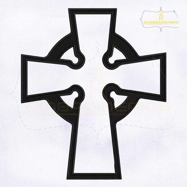 Claddagh Celtic Cross Machine Embroidery Design