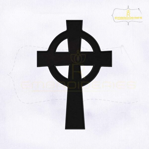 Catholic Church Celtic Cross Embroidery Design