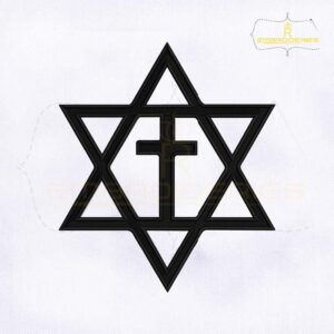 Messianic Jewish Cross Embroidery Design