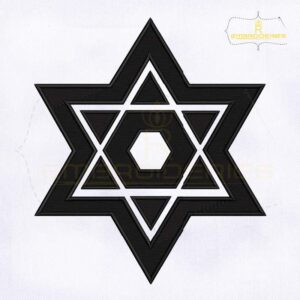 Judaism Star iof David Embroidery Design