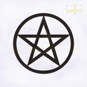 Wicca Pentacle Machine Embroidery Design