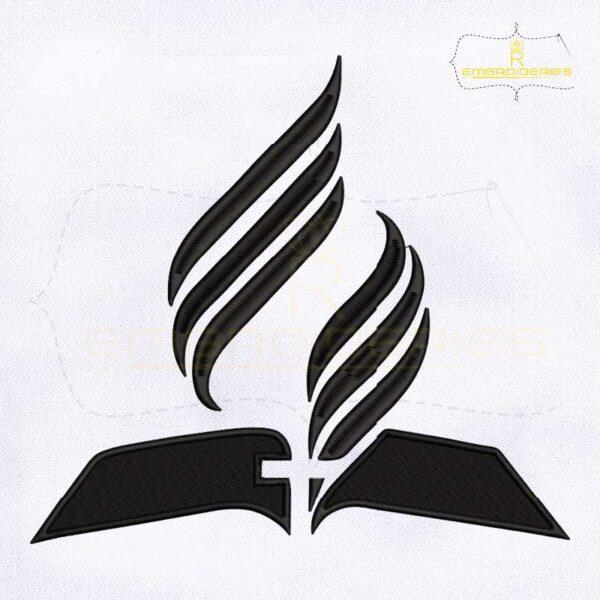 Seventh Day Adventist Church Embroidery Design
