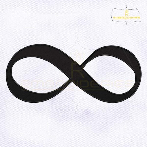Infinity Symbol Machine Embroidery Design