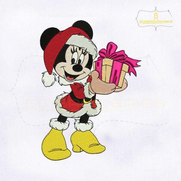 Mickey Mouse Christmas Santa Embroidery Design