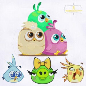 Angry Birds Machine Embroidery Designs Bundle