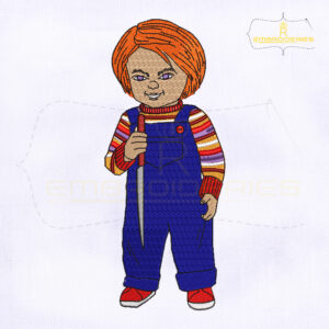 Horror Doll Chucky Embroidery Design