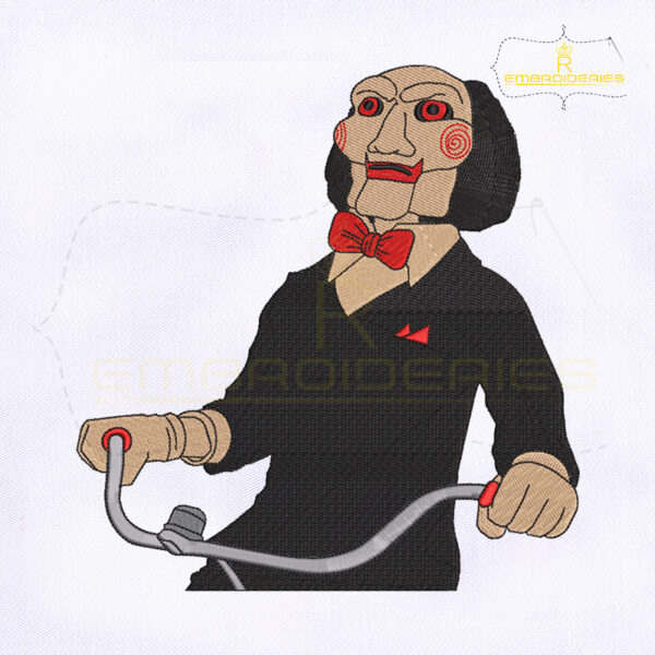Horror Movie Jigsaw Killer Embroidery Design