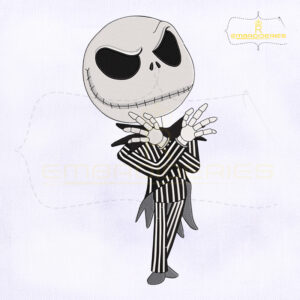 Halloween Jack Skellington Embroidery Design