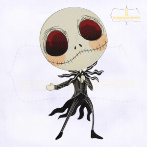 Dancing Jack Skellington Embroidery Design
