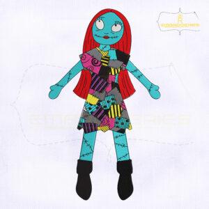 TNBC Sally Doll Machine Embroidery Design