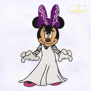 Halloween Minnie Mouse Embroidery Design