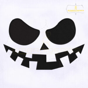 Halloween Pumpkin Face Embroidery Design
