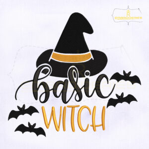 Halloween Basic Witch Embroidery Design