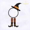 Halloween Elf Monogram Embroidery Design