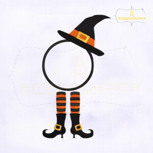 Halloween Elf Monogram Embroidery Design