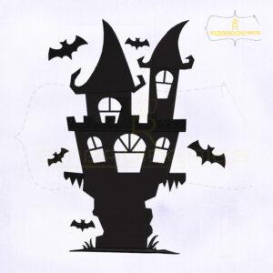 Halloween Spooky Castle Embroidery Design