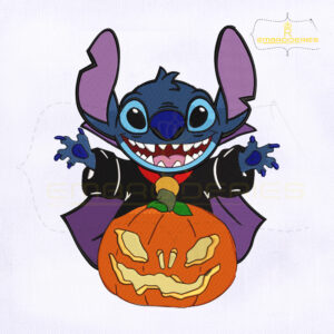 Disney Pumpkin Devil Stitch Embroidery