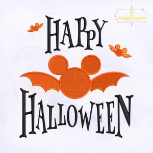 10789-43 Disney Bat Happy Halloween Embroidery Design