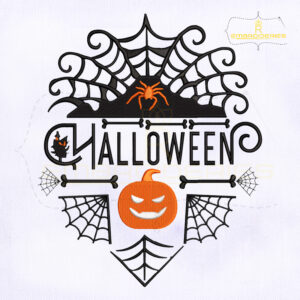 Creative Halloween Symbol Embroidery Design