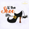 If The Shoe Fits Witch Embroidery Design