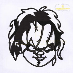 Scary Chucky Face Silhouette Etsy Embroidery Design