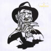 Freddy Krueger Silhouette Machine Embroidery Design