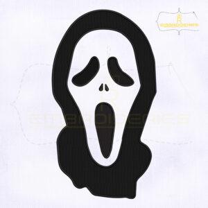 Scream Ghostface Machine Embroidery Design