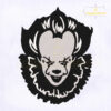 Pennywise Clown IT Face Machine Embroidery Design