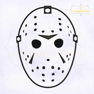 Jason Voorhees Face Mask Embroidery Design