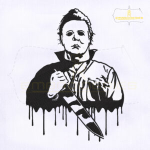 Halloween Michael Myers Machine Embroidery Design