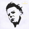 Michael Myers Face Machine Embroidery Design